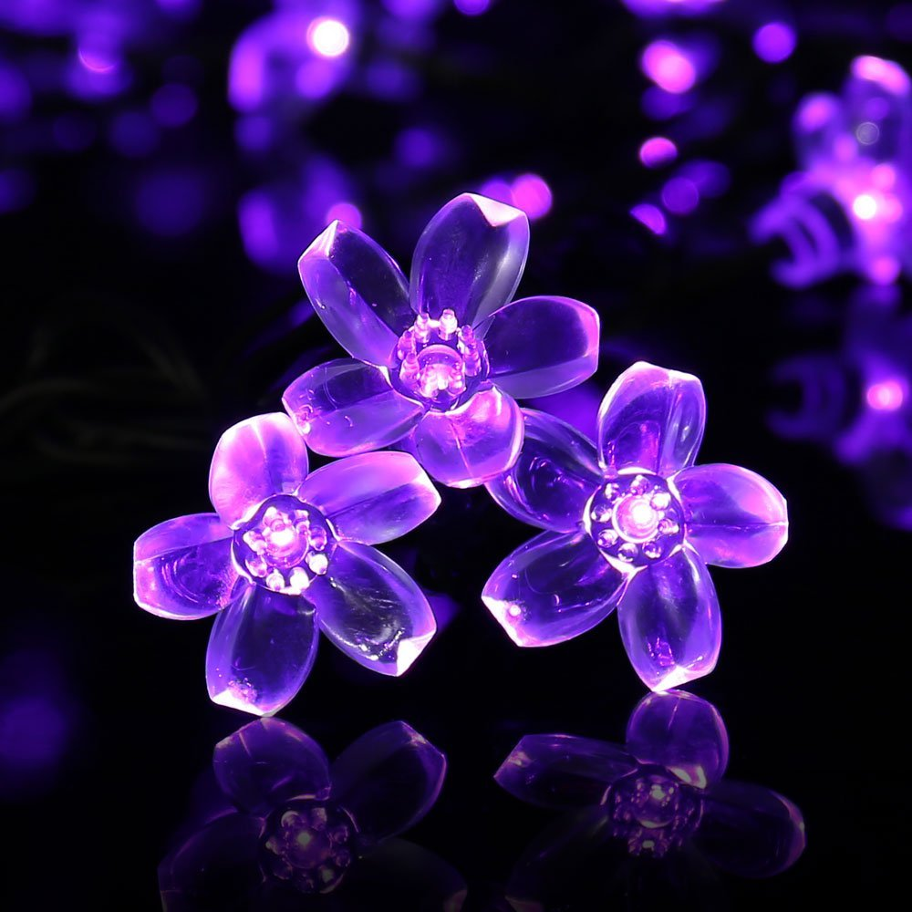 led solar string fairy purple lights 1 2 3 4