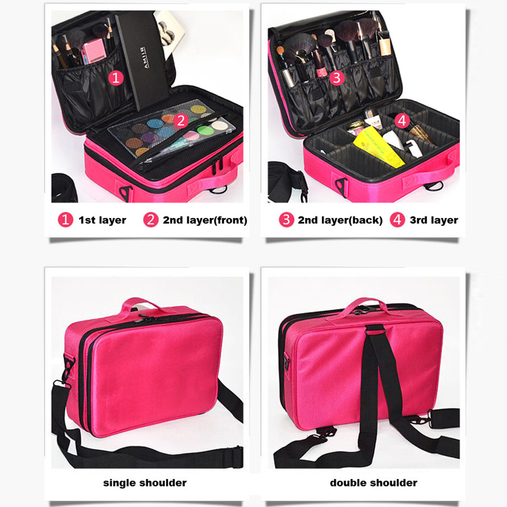Women Fashion Cosmetic Bag Travel Makeup Organizer Professional Make Up Box Cosmetics Pouch Bags Beauty Case For Makeup Artist in Storage Bags from Home Garden