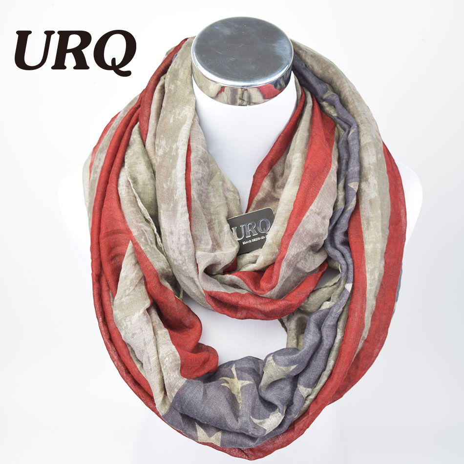 Winter Warm Neck Scarves New America Flag Print Fan Ring Scarf Tube Scarfs Infinity Woman Scarf V8A18431