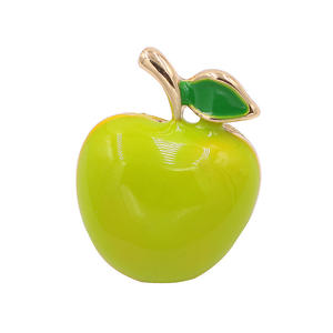 Rinhoo Green Apple Brooches for Women Party Supplies Fashion Accessories Enamel Fruit Style Broach High Quality Gift Jewelry
