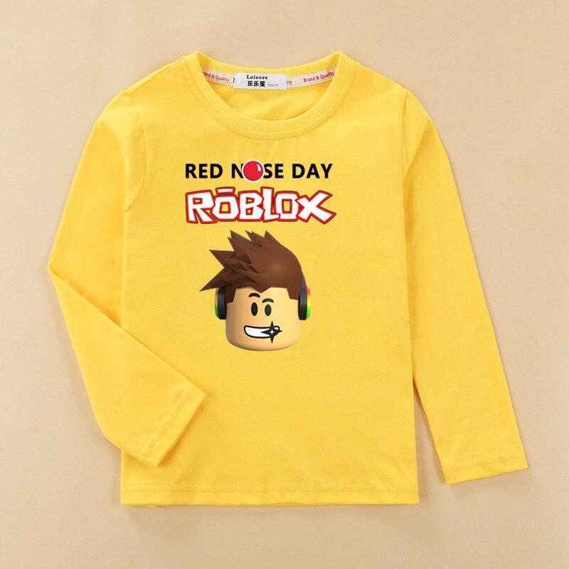 Dropwow Kids Autumn Winter Cotton Clothes Roblox Boys Tshirt Fashion