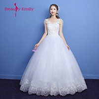 New arriaval lace up ball gowns quality beading decorated wedding dress 2018 customized size bridal Dress for wedding party