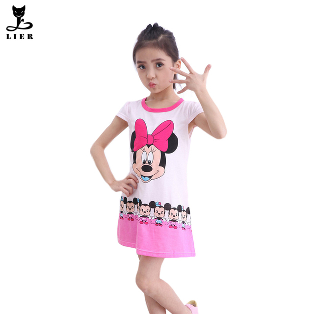 d69e3b84c4c US $13.99 |New Arrival Summer Kids Minnie Dress For Girls Short Sleeve  Cotton Sleepwear Night Gown Children Cartoon Printing Pajamas-in Dresses  from ...