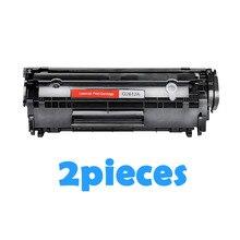 2PCs Q2612A 2612A Q2612 Compatible toner cartridge For HP Laserjet 1010 1012 1015 1018 1020 1022 3010 3015 3050 M1005 printers