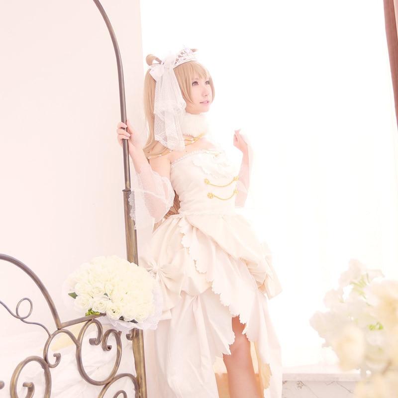 Love Live Kotori Minami Cosplay Lovelive School Idol Project White Satin Wedding Dress Costume Anese Uniform Anime On Aliexpress Alibaba