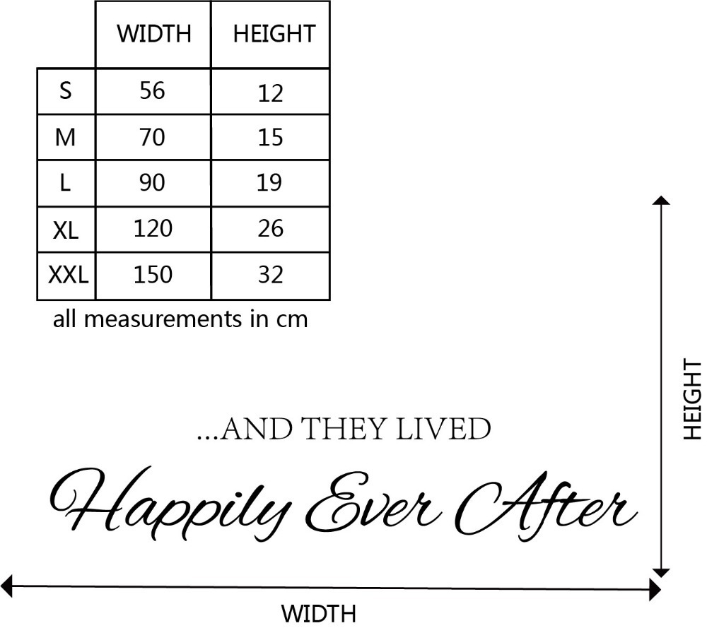 And They Lived Happily Ever After Family Quote Wall Sticker