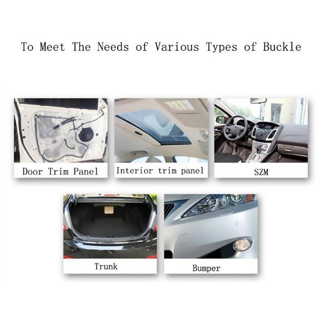 200 шт смешанный Автомобильный крепеж, автомобильный бампер, фиксатор, заклепка, дверная панель, подкрылок, универсальный, подходит для всех автомобилей