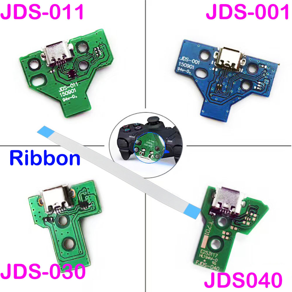 14Pin 12 Pin Charger Ribbon Cable For Sony PS4 Pro Controller JDS-040 USB Charging Board Socket Circuit стоимость