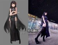 New Clothes Puella Magi Madoka Magica Akemi Homura Chinese Style Cheongsam Dresses Cosplay Costume F