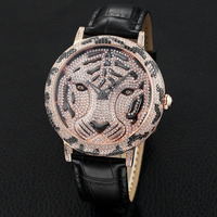 Qi Xuan_Tiger head Time To Run Rotating Personality Watch With 5A Cut Zircon Large Dial Waterproof Quartz Belt Large Men's Watch