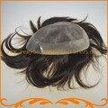 Бесплатная Доставка 1B 2 #3 # цвет прямо волна 100% Индийский реми волосы моно и вокруг НПУ мужской парик парик