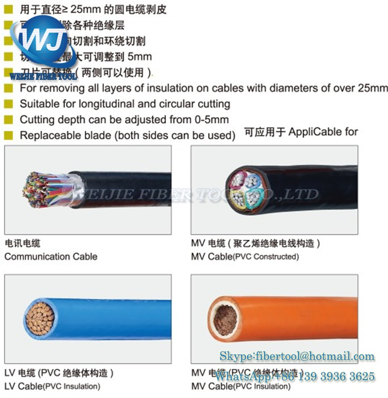 Fiber optic cable protective layer stripping device PG-5 (2)