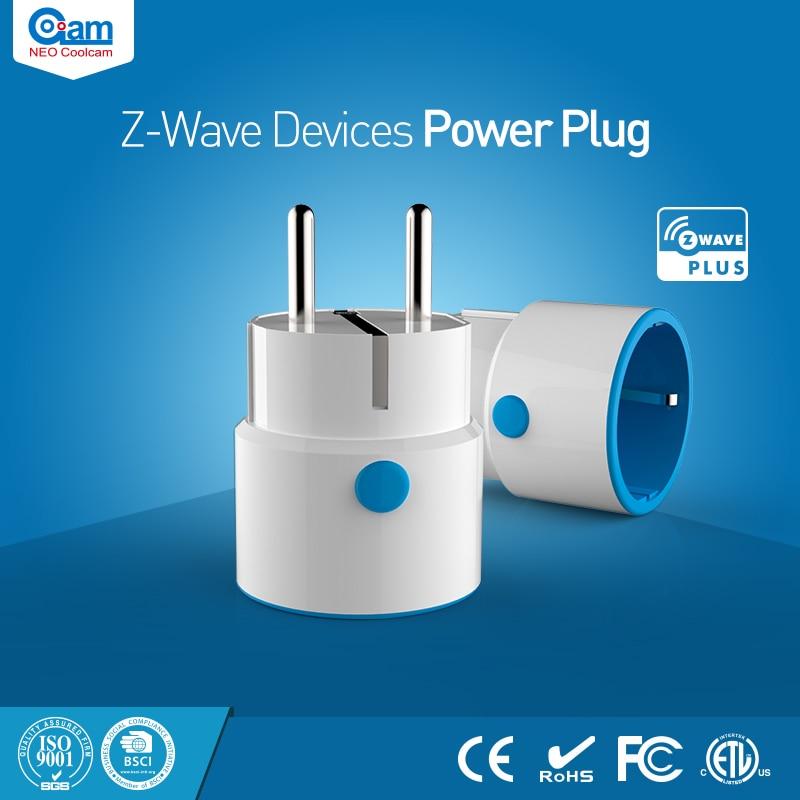 Coolcam NEO Smart Home-Onda Z de Energia DA UE Plugue Do Sensor Compatível com-onda Z série 300 e 500 série de Automação Residencial