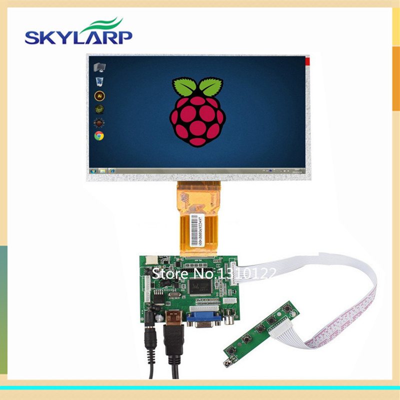 skylarpu Raspberry Pi LCD Display Screen TFT Monitor for AT090TN12 with HDMI VGA Input Driver Board Controller (without touch) 7inch hdmi lcd display module 1024 600 touch screen digitizer driver board hdmi interface controller for raspberry pi