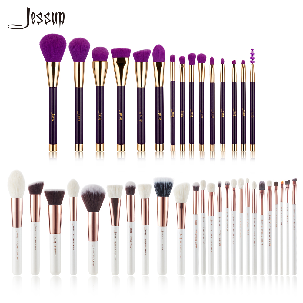 Jessup Brushes Makeup Brushes Set Cosmetic tools kit Make up Brush Powder Foundation Eyeshadow Eyeliner Lip Blushes Concealer saiantth makeup tool set kit combination 15 color concealer palette toothbrush makeup brush water drops sponge puff cosmetic