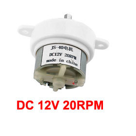 UXCELL Hot Sale 1pcs DC 12V 20RPM Rotating Speed 2 Terminals Connecting Reduction Geared Motor JS-40 Pakistan