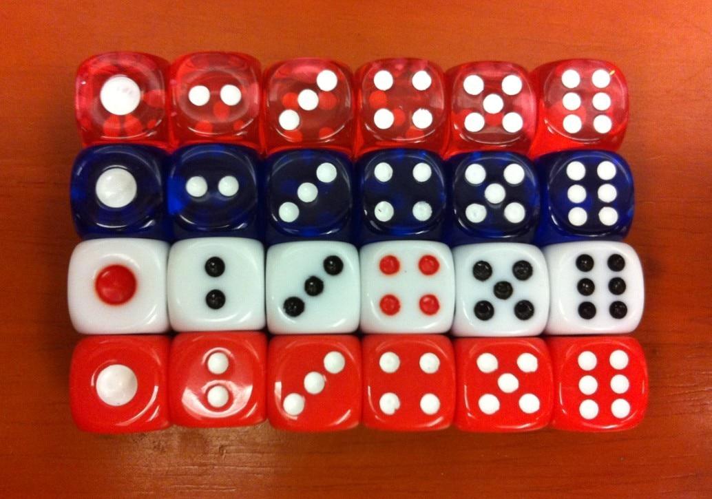 12мм заобљена коцкица / 12 # транспарентна шарена коцка