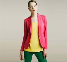 Single-button suit jacket women's European style candy color small suit jacket Slim AL74