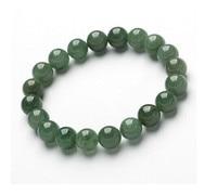 Mayor pulsera de piedra natural verde Yang con ampliado pulsera de cadena/puede escalar