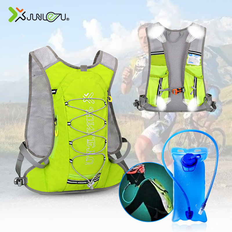 Nylon Running Marathon Men Women Hydration Outdoor Running Bags Hiking Cycling Backpack Vest Sport Accessories With 2L Water Bag