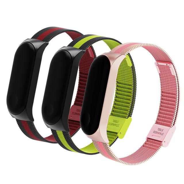 Rovtop Wrist Band Bracelet Strap for Xiaomi Mi Band 3 MiBand 3 Strap Metal Bracelet Stainless Steel Wrist Strap
