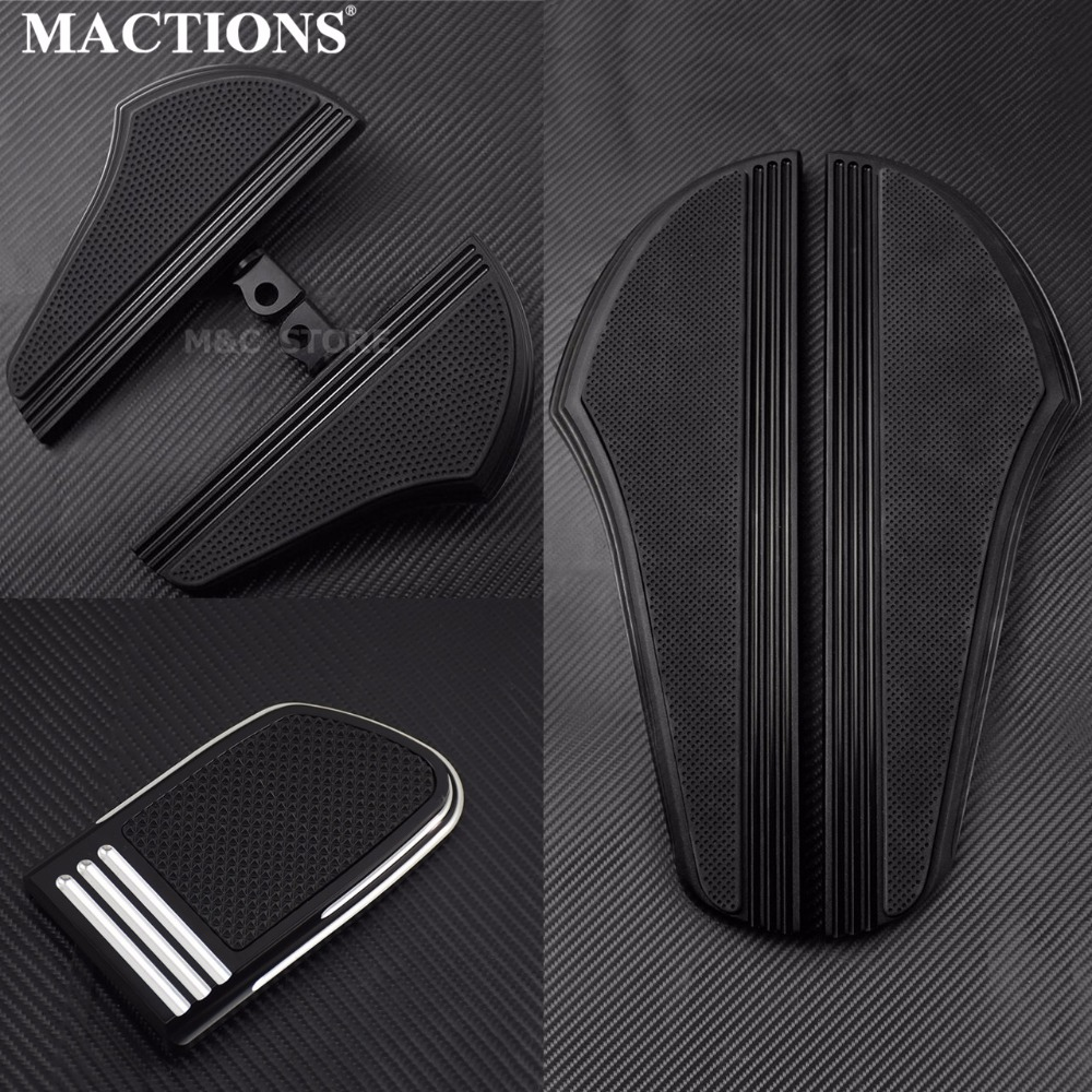 MACTIONS Motorcycle Rider Footboard Floorboard W/ Brake Pedal Kits For Harley Touring Electra Glide Fltr Flhx 1986-2016 2017