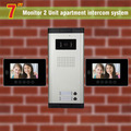 2 Units Apartment Intercom System 7 Inch Video Door Phone Intercom System Apartment Intercom Video Door Bell DoorPhone Doorbell