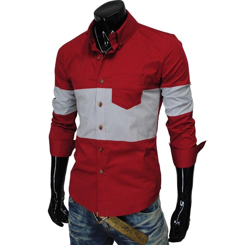 Free Shipping New 2017 Man Brand shirts Fashion Elegant Casual Slim Fit shirts Men's Dress Shirts
