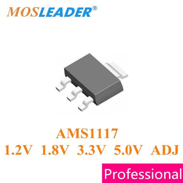 Mosleader SOT223 1000pcs AMS1117 1.2V AMS1117 1.8V AMS1117 3.3V AMS1117 3V3 AMS1117 5.0V AMS1117 ADJ AMS1117 1.2V 1.8V 3.3V 5V