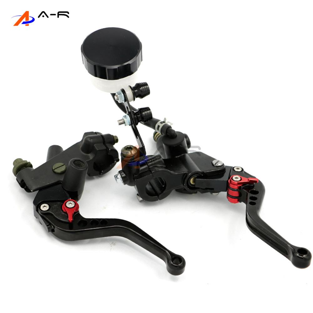 CNC Front Clutch Levers Brake Master Cylinder Fluid Reservoir Adjustable for Honda CBR250R CBR300R 1000R 7/822MM Handlebars universal motorcycle brake fluid reservoir clutch tank oil fluid cup for mt 09 grips yamaha fz1 kawasaki z1000 honda steed bone