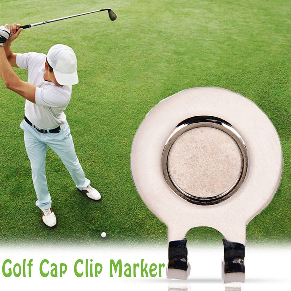 Aiming Golf Ball Iron Fastener Magnet Aids Alignment Marker Accessories Practical Training Hat Cap Clip Tool