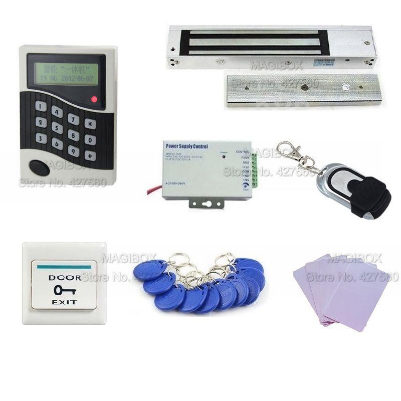 Acss26 двери Система контроля доступа Kit + Магнитный замок + 10 RFID карты + Дистанционное управление