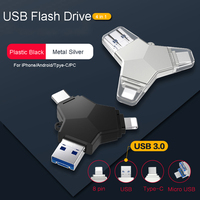 LL TRADER 5PCS 64GB Flash Memory Stick OTG USB 3.0 Flash Disk 128GB USB For iPhone Android USB Pendrive 3.0 Flash Drive Type C