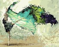 الملونة مجردة الرقص فتاة جديدة الرقمية diy النفط الطلاء بواسطة أرقام قماش النفط الطلاء الطلاء بواسطة عدد الرسم