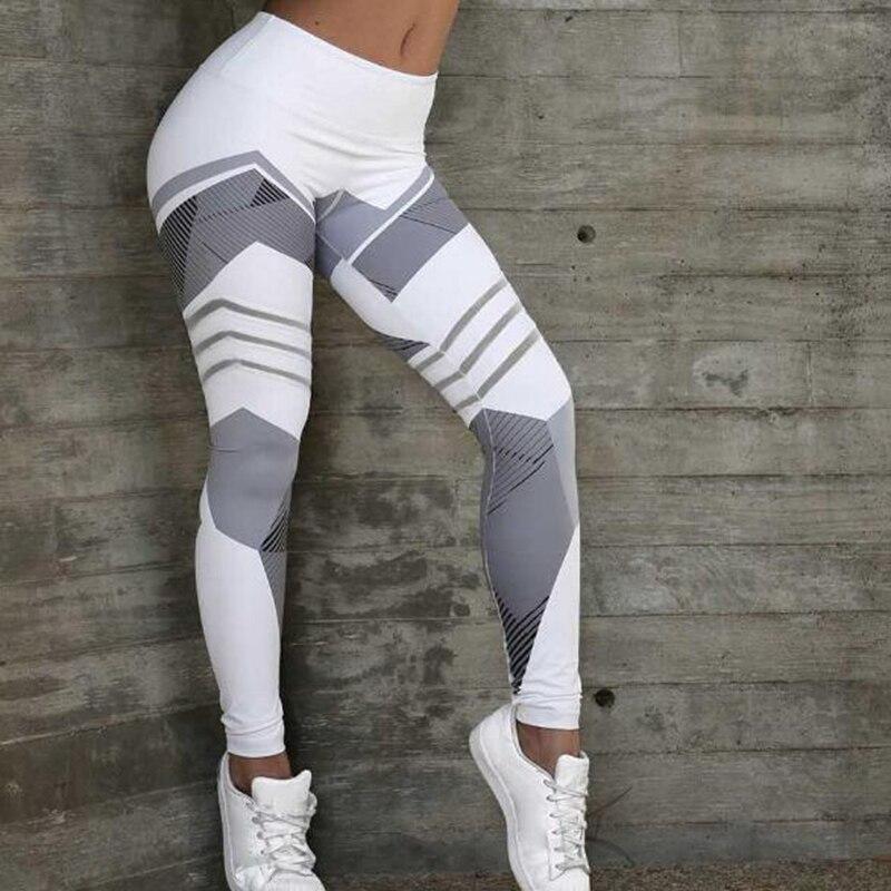 Women yoga sports high waist leggings fitness Gym irregular tight patchwork Running Jogging bodybuilding pant 1