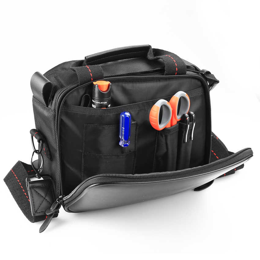 شحن مجاني KELUSHI FTTH جودة عالية الألياف البصرية أداة حزمة فارغة مجموعة أدوات خاصة الألياف الأجهزة/شبكة أدوات فارغة حقيبة