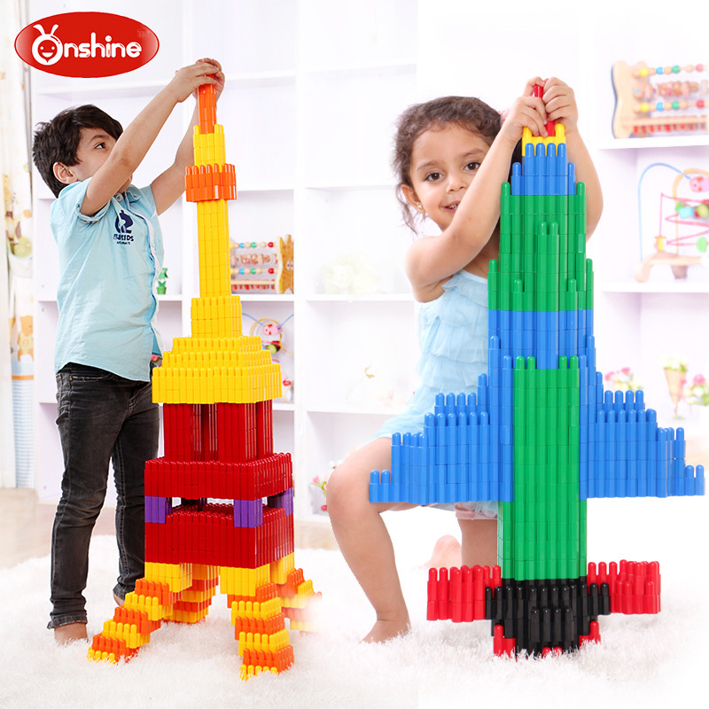 132pcs Children Educational Bullet Plug Match Building Blocks Kids Intelligence Developm ...