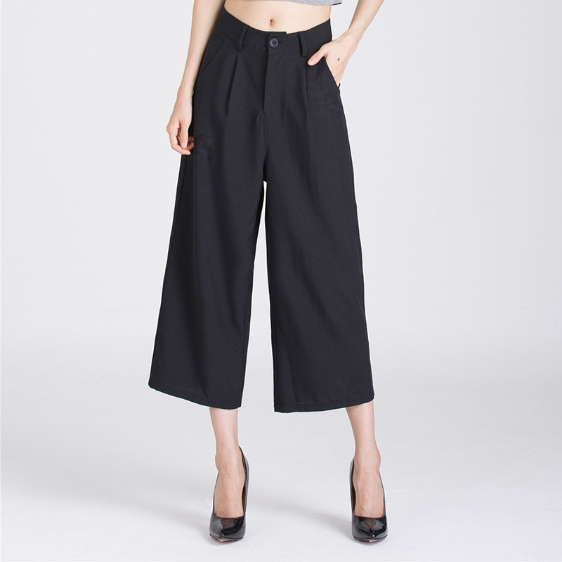Luxury New Summer Women Pants Fashion High Waist Wide Leg Long Pant Palazzo