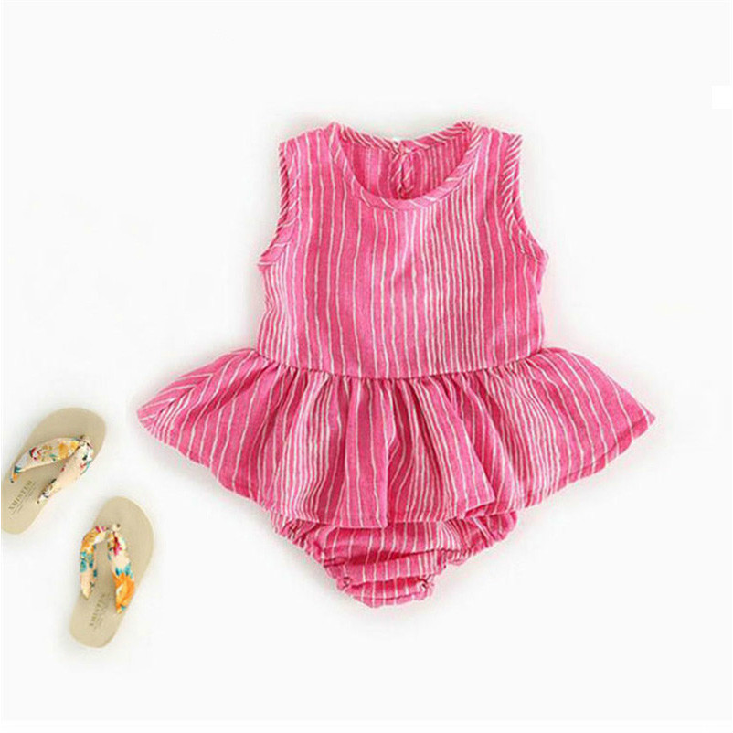 2018 Summer season Woman Clothes Units 5 Colours New child Child Woman Gown+Brief Toddler Child Clothes Units Cotton Striped Children Woman Garments Clothes Units, Low-cost Clothes Units, 2018 Summer...