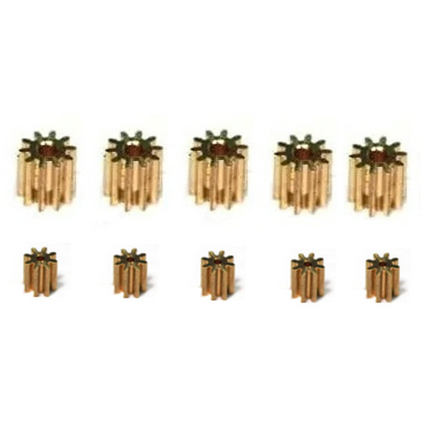 5sets lot MJX F45 Motor Pinion Copper Gear For Main Gear And Tail Motor