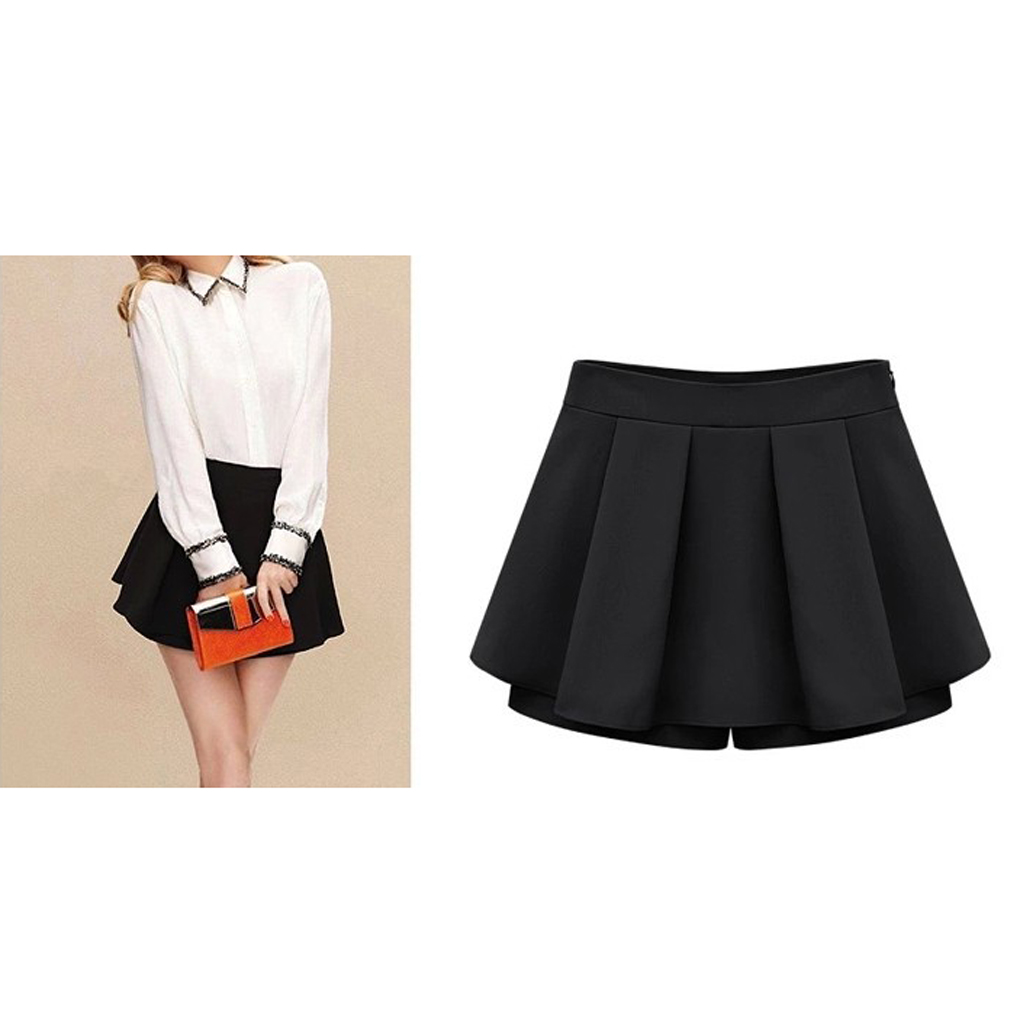 Popular style Lady all-match cultivate one's morality pleated shorts divided skirts personality style