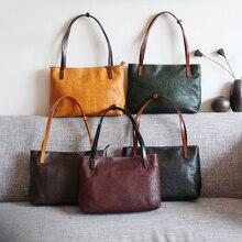 YIFANGZHE Minimalist Retro Womens  Cowhide Leather Shoulder Bags, Top Handle Tote Bag Satchel Handbag Roomy for Ladies