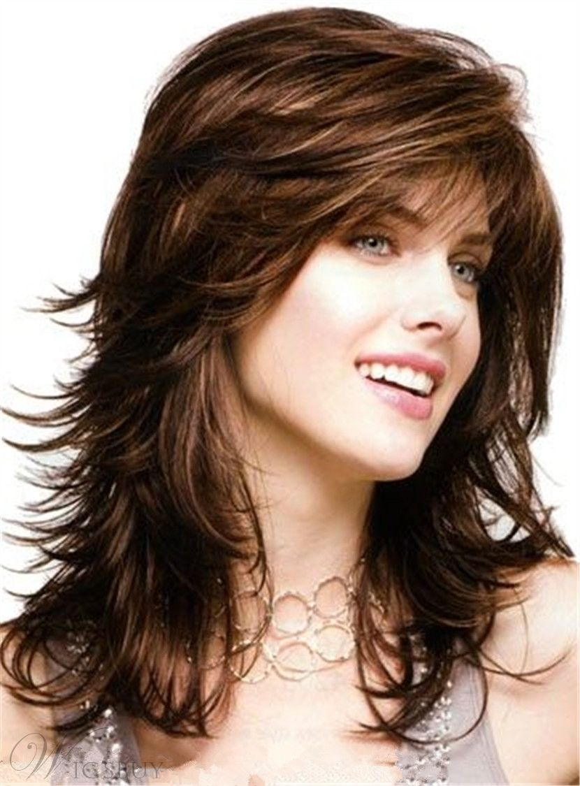 Audacious Long Body Loose Layered Wave Bangs Capless Synthetic Wig 16 Inches Cosplay Wig Jewelry & Accessories Jewelry Findings & Components