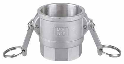 1/2in. and 3/4in. Stainless Steel Type D Camlock Coupling