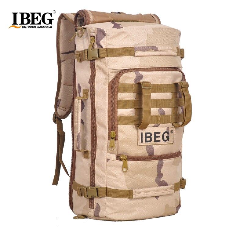 2017 Baru Kalis air Nylon Hiking Backpack 45L Beg Sukan luar Rucksack Beg Gunung Lelaki Beg Perjalanan Kembali pek