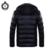 Homens Jaqueta de inverno Moda Patchwork Masculino Com Capuz Quente Para Baixo Casacos Com Zíper Preto Campera Invierno Hombre 2016 Plus Size Outwear Y102