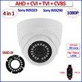 4en1 imx290 imx323 1080 p ahd cámara hd cvi tvi 2mp ahd analógica-h 960 h color de la visión nocturna circuito cerrado de televisión, IR-CUT, WDR, 3DNR, OSD, 3.6mm de la Lente