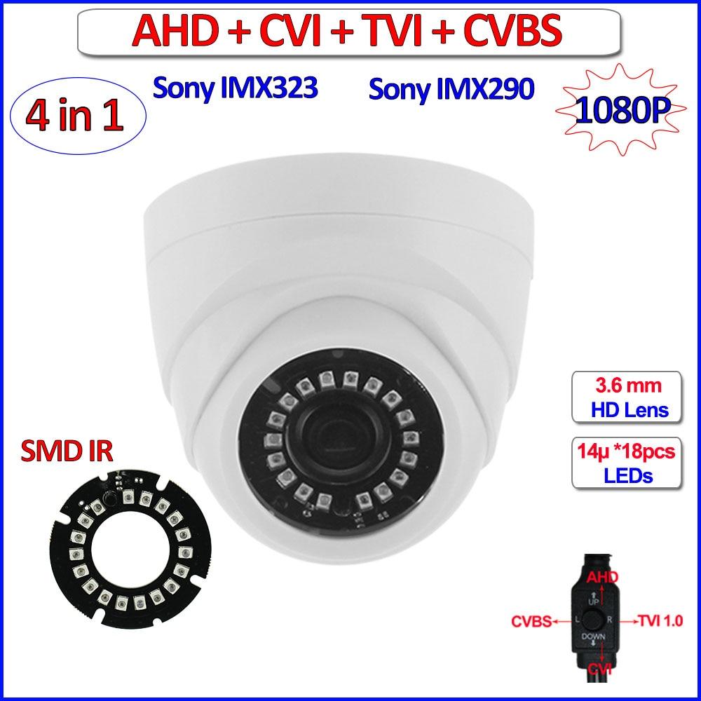 imágenes para 4en1 imx290 imx323 1080 p ahd cámara hd cvi tvi 2mp ahd analógica-h 960 h color de la visión nocturna circuito cerrado de televisión, IR-CUT, WDR, 3DNR, OSD, 3.6mm de la Lente