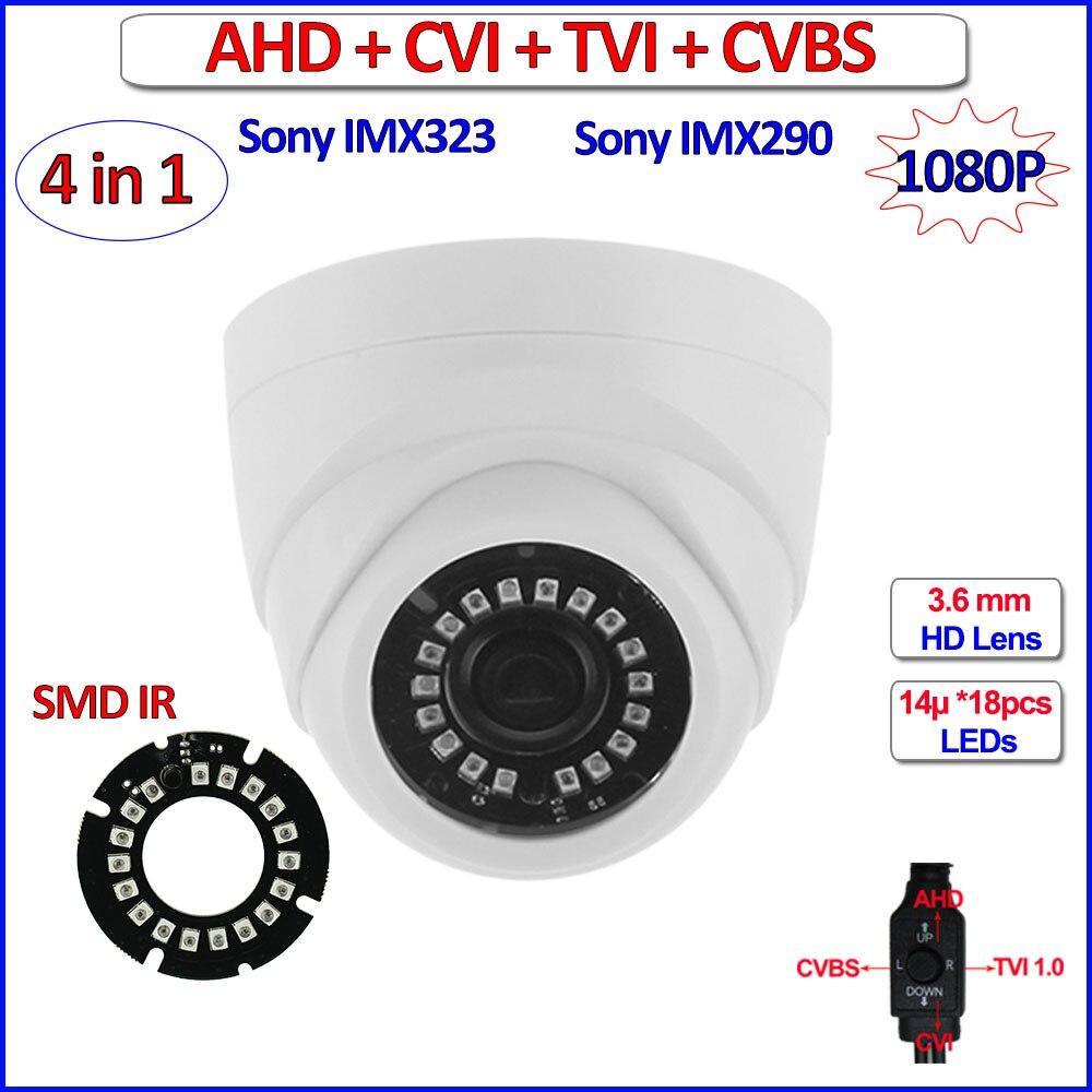 bilder für Imx290 imx323 1080 p ahd kamera 4in1 hd analog 2mp ahd-h cvi tvi 960 h farbe nachtsicht cctv, IR-CUT, WDR, 3DNR, OSD, 3,6mm Objektiv