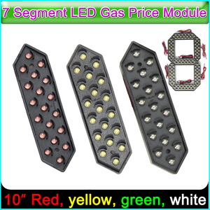"Image 1 - 10"" Digita Numbers Display Module, LED Signs 7 Segment Of the Modules Red, yellow, green , white, 7 Segment LED Gas Price Module"